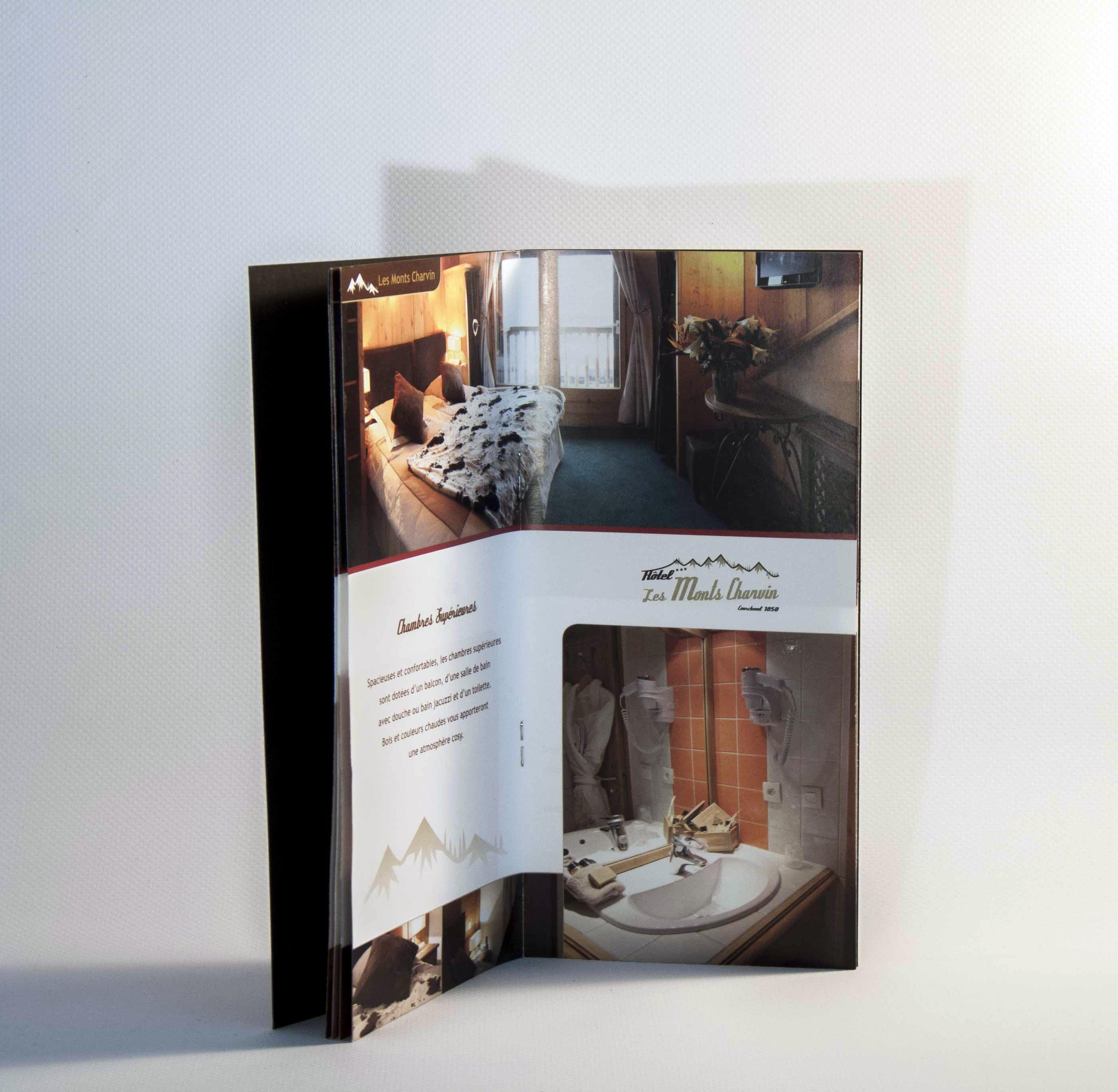Un Toilette Ou Une Toilette hôtel les monts charvinbrochure | graphic design | portfolio
